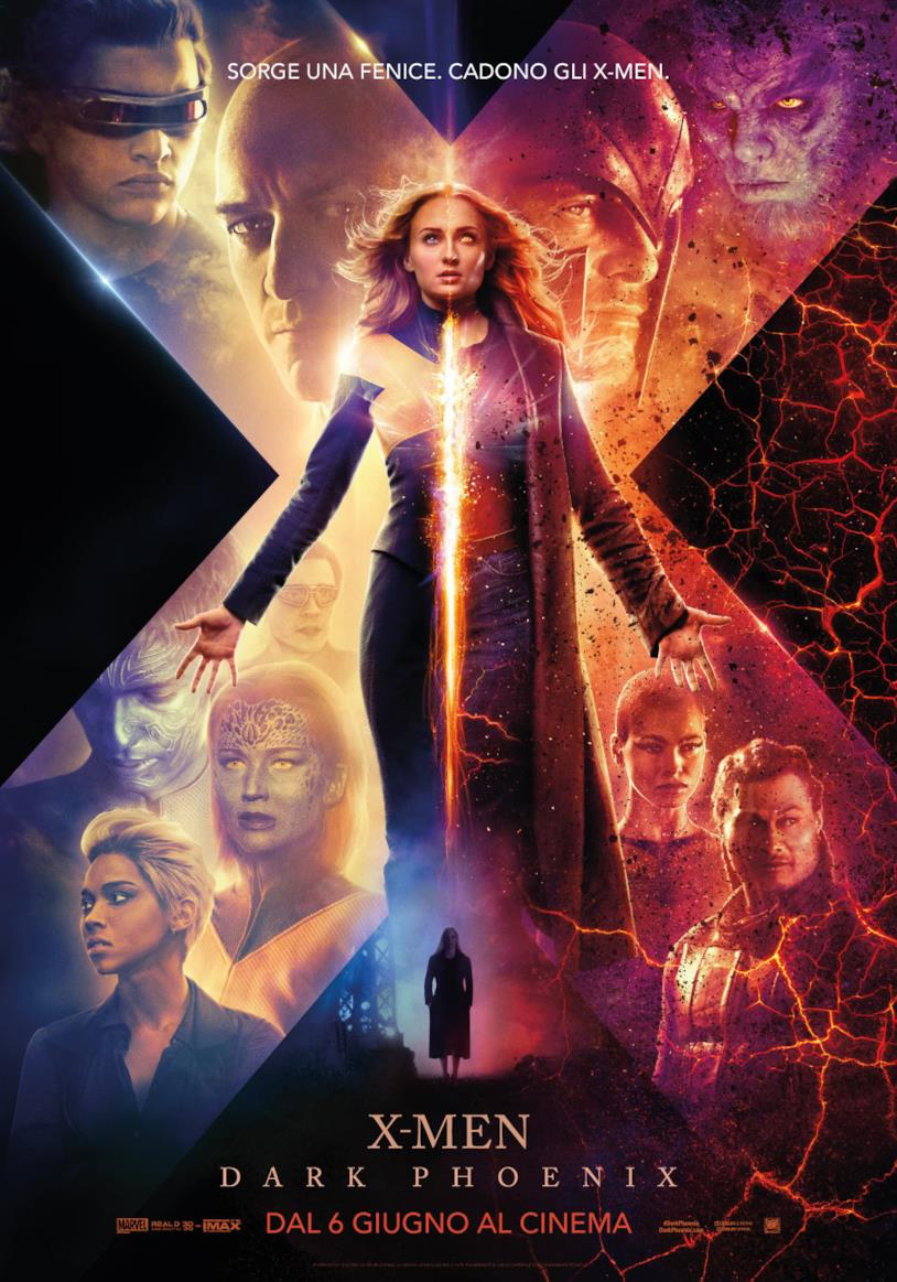 Fenice in primo piano nel poster italiano di X-Men: Dark Phoenix