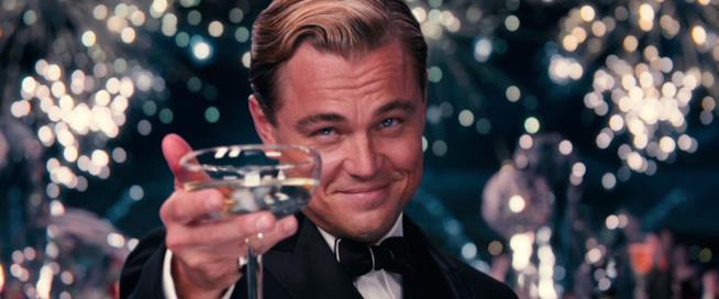 Leonardo DiCaprio in una scena de Il Grande Gatsby