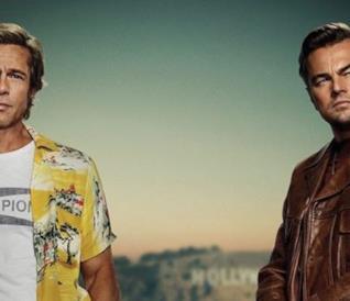Brad Pitt e Leonardo DiCaprio nel poster di C'era una volta a... Hollywood