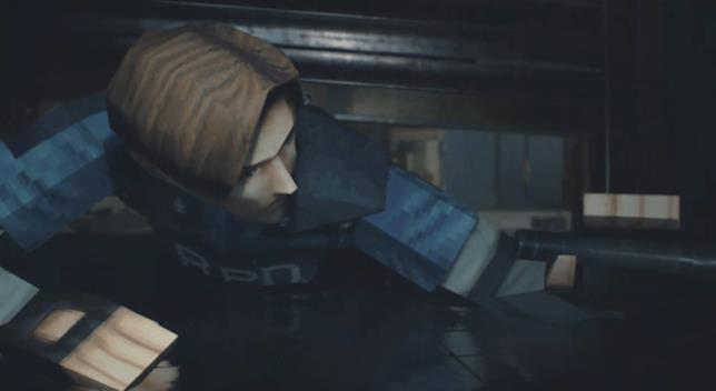 Leon S. Kennedy sfoggia il vecchio modello poligonale in Resident Evil 2