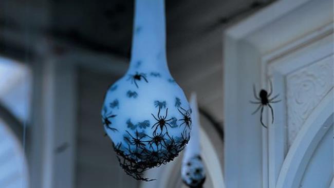 Uova di ragno di Halloween