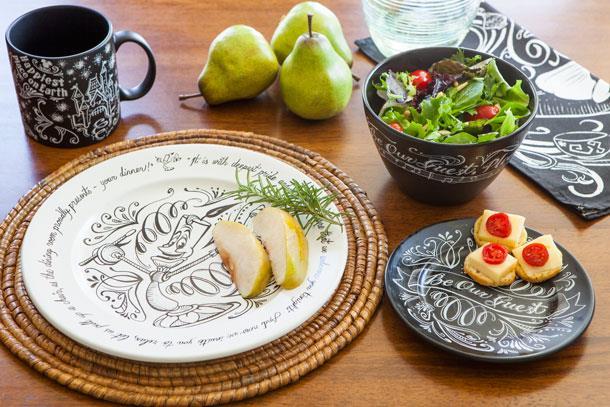 Oggettistica del Disney Home Store: piatti, ciotole e tazze a tema La Bella e la Bestia