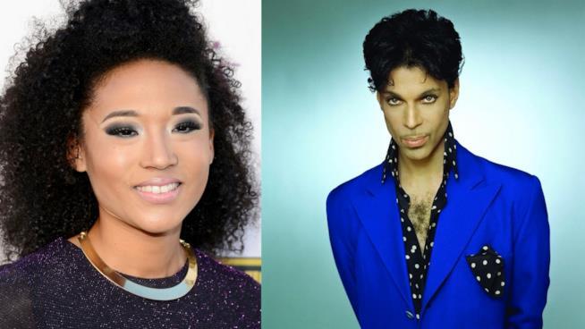 Primo piano di Prince e Judith Hill