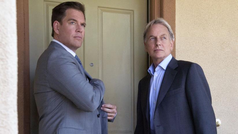 Michael Weatherly e Mark Harmon in una  scena di NCIS
