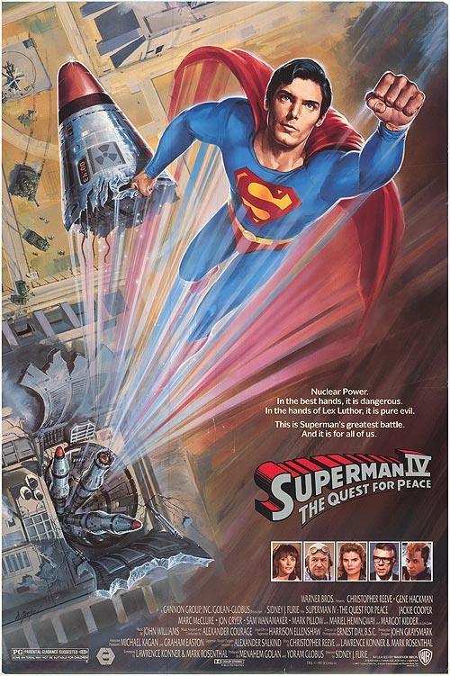 Il poster di Superman IV