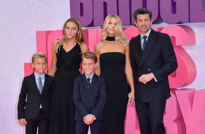 Patrick Dempsey e famiglia alla prima di Bridget Jones's Baby