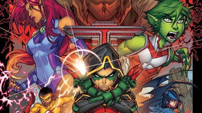 Un'immagine dei personaggi della serie Titans