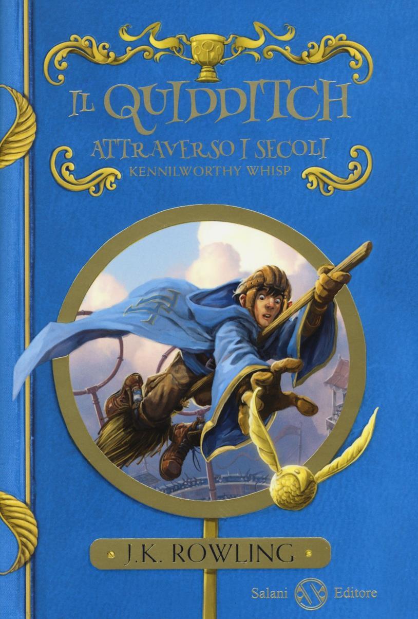 La copertina del libro Il Quidditch attraverso i secoli