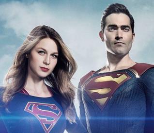 Melissa Benoist e Tyler Hoechlin in costume per Supergirl 2