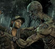Clementine combatte uno zombie in The Walking Dead: The Final Season