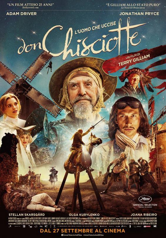 La locandina italiana del nuovo film di Terry Gilliam