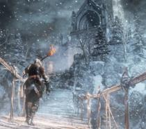 L'eroe di Dark Souls III vaga in una landa innevata nel DLC