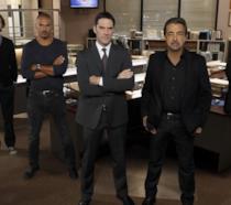 Il cast di Criminal Minds sul set