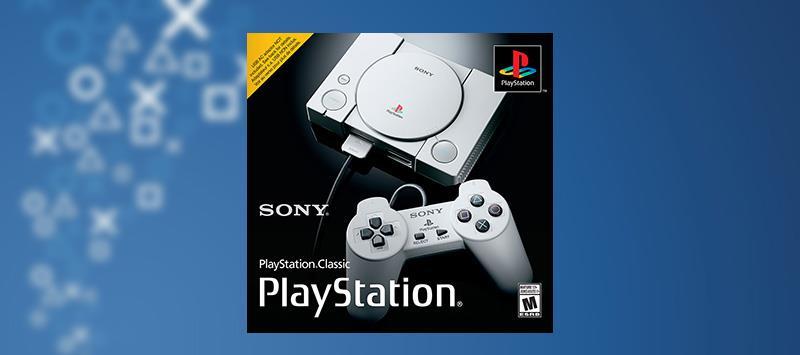Immagine stampa della confezione di PlayStation Classic