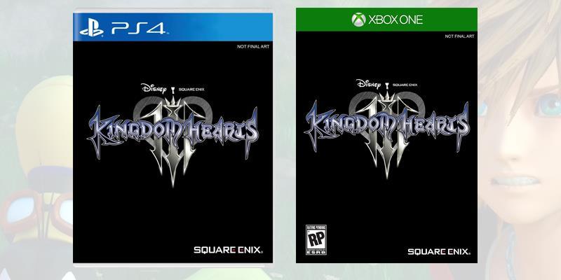 Kingdom Hearts 3, le boxart momentanee