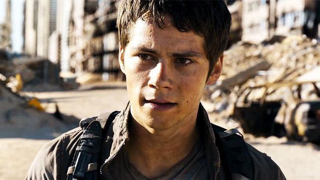 Dylan O'Brien nel ruolo di Thomas in Maze Runner