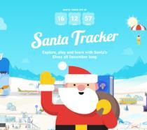 L'homepage di Google Santa Tracker