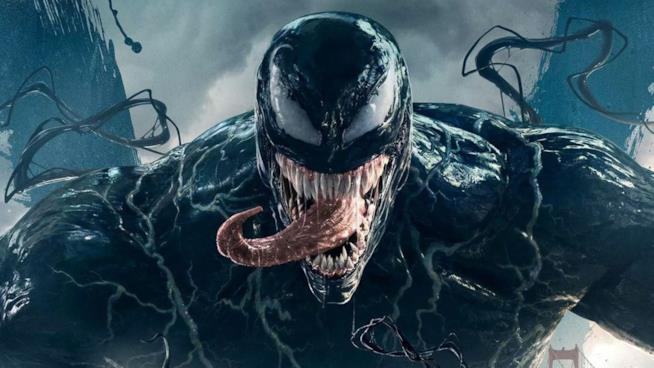 Un dettaglio del poster promozionale di Venom