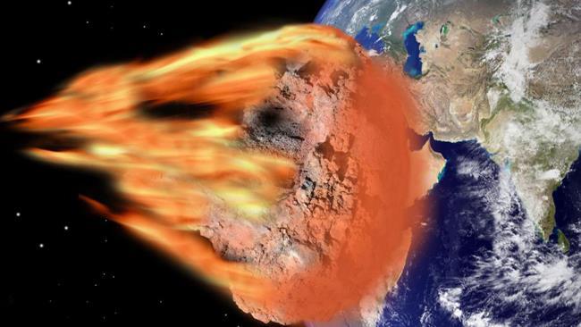 La collisione immaginata tra Nibiru e la Terra