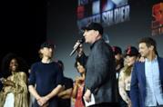 Kevin Feige al Comic-Con di San Diego con gli attori Marvel