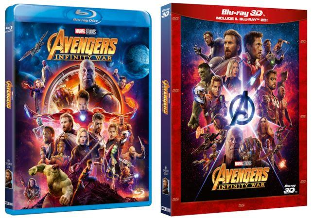 Avengers: Infinity War, le due versioni blu-ray