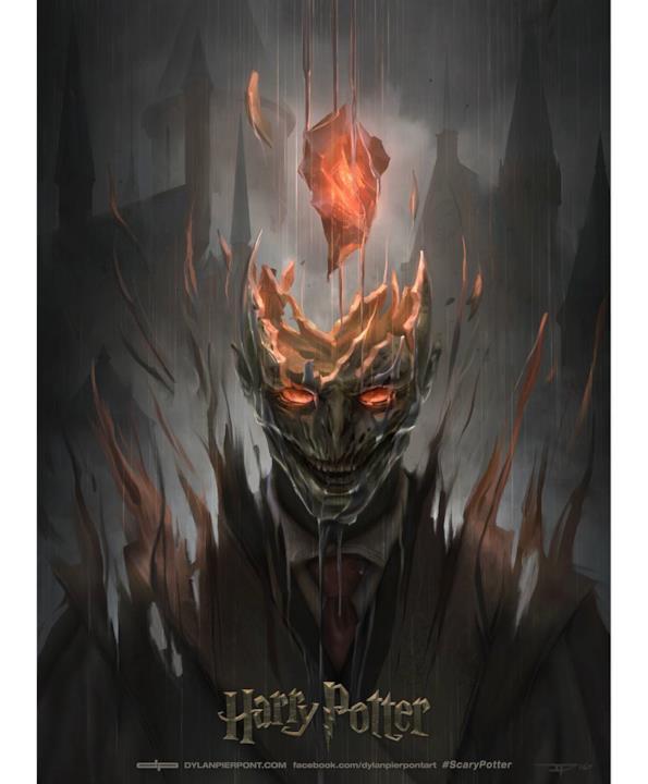 La copertina di Harry Potter e la Pietra Filosofale in versione horror