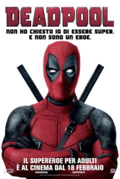 Poster di Deadpool con frase sul fatto che non è un eroe