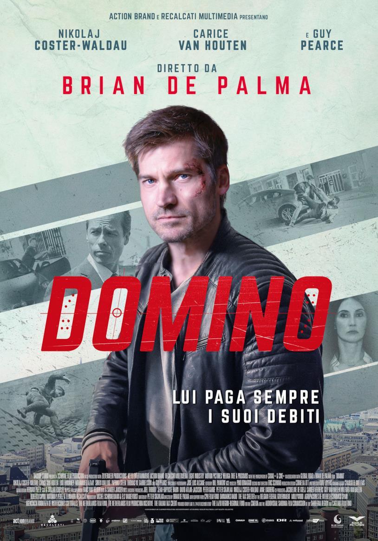 Nikolaj Coster-Waldau campeggia nel poster del film Domino di Brian De Palma