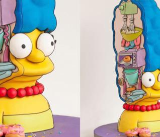 La torta ispirata a Marge Simpson