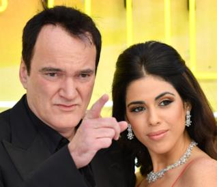 Quentin Tarantino e Daniella Pick alla prima di C'era una volta a... Hollywood