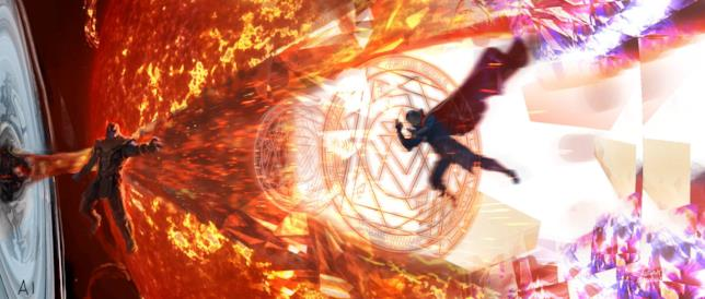 Thanos contro Doctor Strange in Avengers: Infinity War