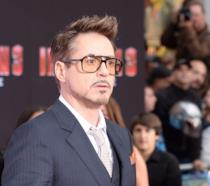 Robert Downey Jr. in una foto dalla première di Iron Man 3