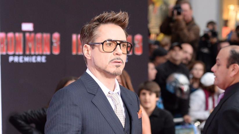 Robert Downey Jr. in una foto dalla première di Iron Man 3