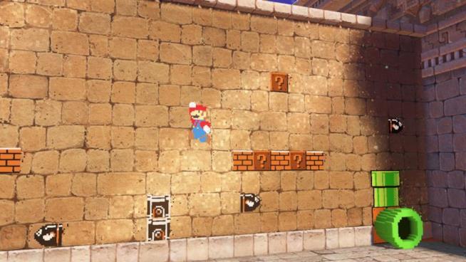 Una fase platform 2D da Super Mario Odyssey