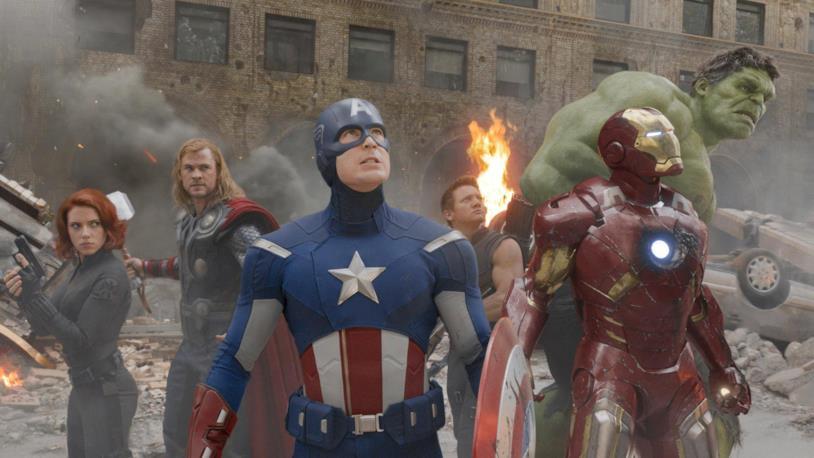 Gli Avengers in una scena del primo film