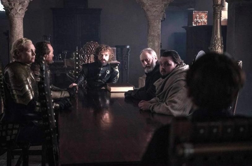 Il nuovo Concilio ristretto nel finale di Game of Thrones