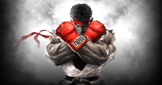 Ryu sulla cover di Street Fighter V
