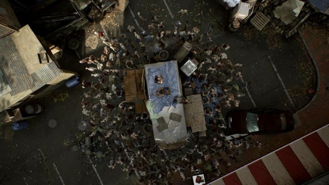 Un'orda zombie all'attacco in Overkill's The Walking Dead