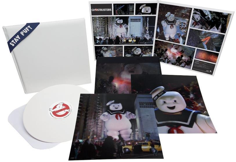La colonna sonora di Ghostbusters in edizione speciale che contiene le foto del film