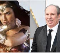 Wonder Woman e Hans Zimmer in collage