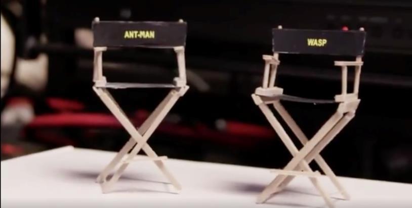 Le micro sedie dei protagonisti di Ant-Man and the Wasp