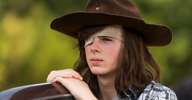 Chandler Riggs nei panni di Carl in The Walking Dead