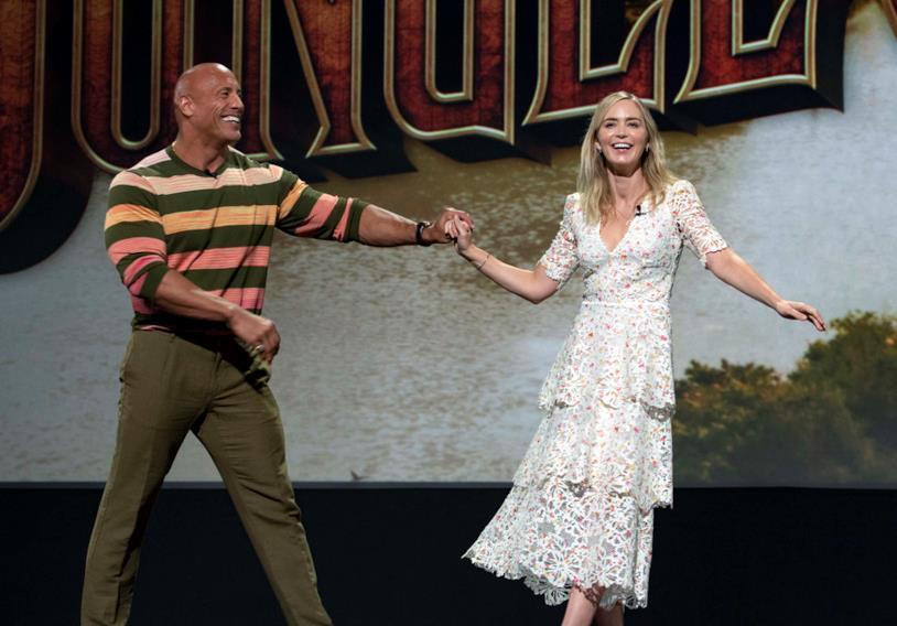 Dwayne Johnson e Emily Blunt al D23 Expo