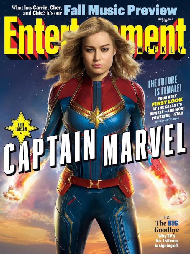 Brie Larson sulla cover di EW