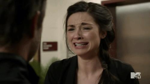 Allison che piange