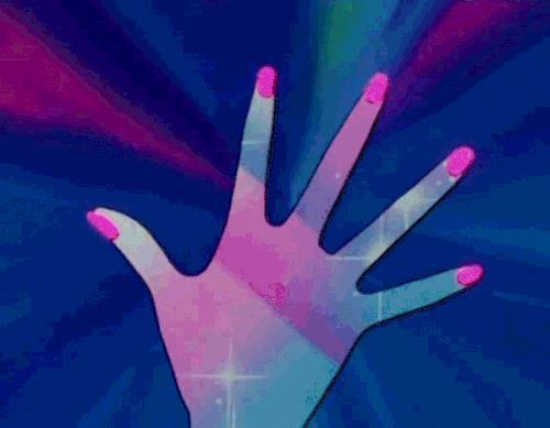 Un'immagine della trasformazione di Sailor Moon nell'omonimo cartone