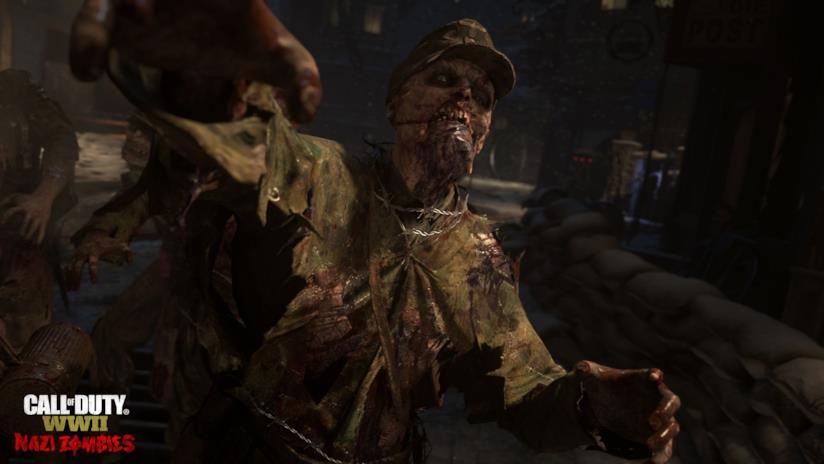 Un non-morto della modalità Nazi Zombies
