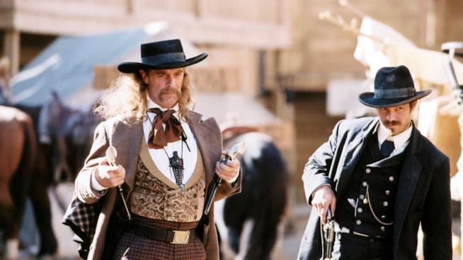 Una scena del telefilm Deadwood