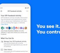 Immagine promozionale della sezione Off-Facebook Activity