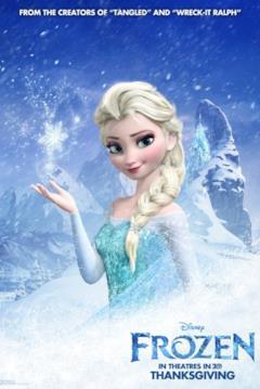 Elsa nel character poster di Frozen